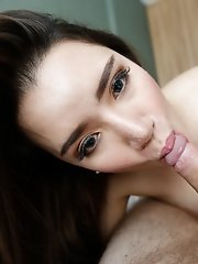 25yo beautiful Thai ladyboy gives blowjob and jerks off