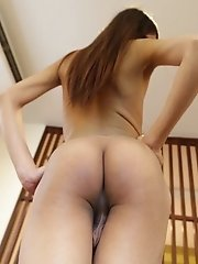 Small titted Thai Ladyboy can't get enough white cock