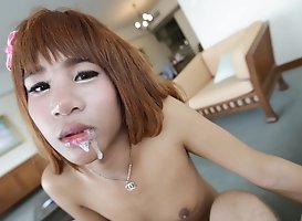 19 Year Old Naughty Thai Shemale Gets Fucked And Sucks Off Tourist
