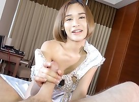 Benty: Gf Dress No Panties Bareback Handjob
