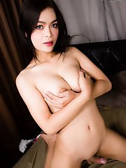 Sexy Lin is a beautiful Asian tgirl with a smoking hot body, big boobs, a great ass and a rock hard cock! Watch this horny grey eyed ladyboy masturbat